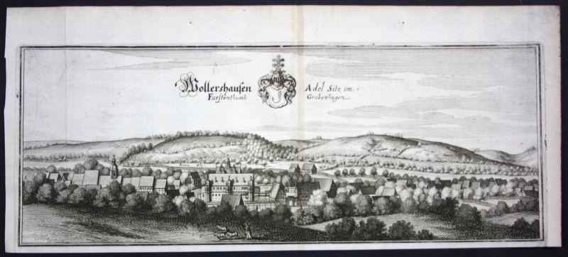 Wollershausen / LK Göttingen - Kupferstich Merian