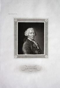 Gottlieb Wilhelm Rabener Schriftsteller writer Stahlstich Portrait