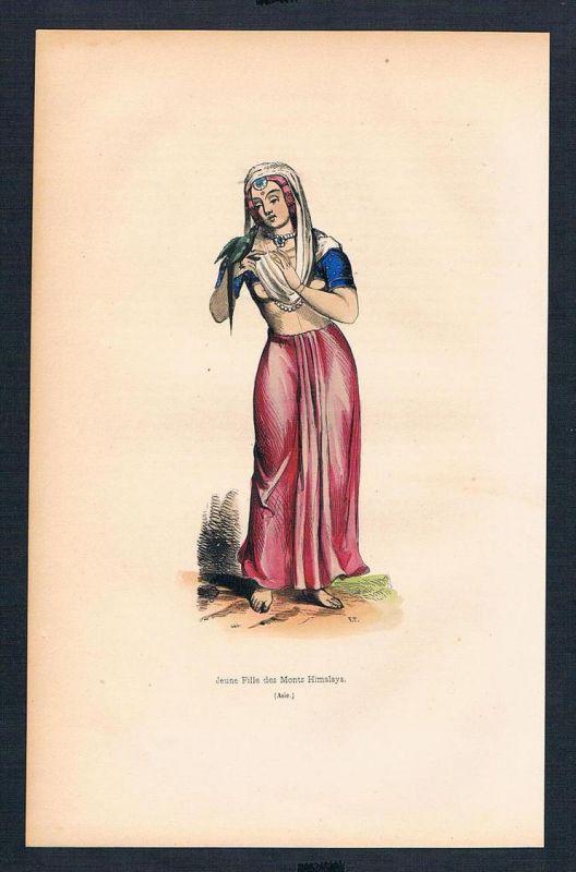Himalaya Himalayas Asien Asia costumes Trachten antique print