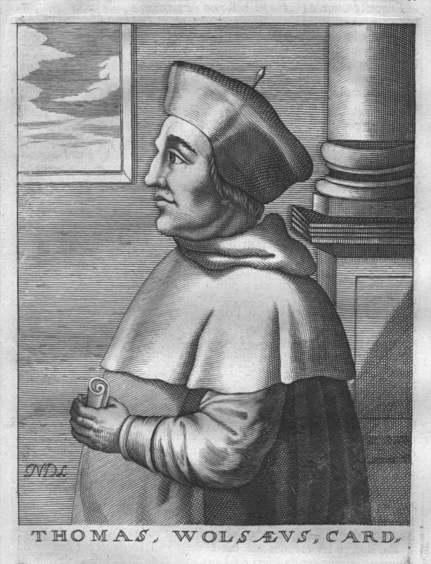 Thomas Wolsey Cardinal Archbishop Portrait Kupferstich engraving gravure