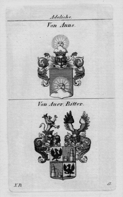 Anns Auer Wappen Adel coat of arms heraldry Heraldik crest Kupferstich