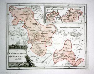 Fürstentum Querfurt Jüterbog Dahme - Reilly Karte map