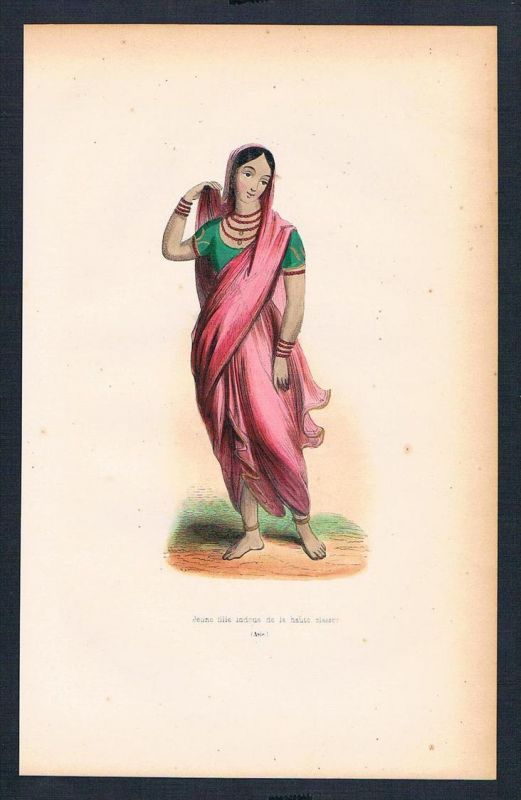Indien India Asien Asia costumes Trachten antique print