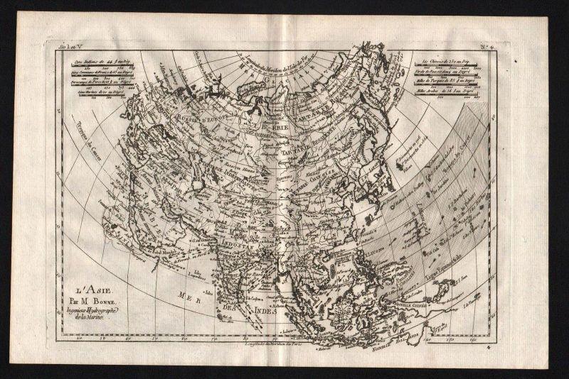 Asien Asia continent Kontinent map Karte Kupferstich engraving
