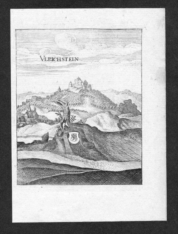Ulrichstein Vogelsbergkreis Hessen gravure Merian Kupferstich engraving