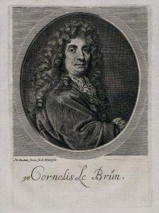 Cornelis de Bruijn traveler artist Kupferstich Portrait engraving