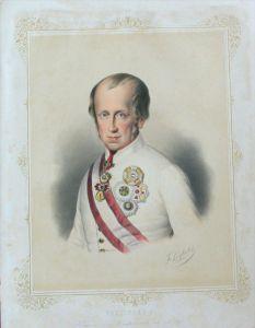 Ferdinand I Österreich Portrait Lithographie