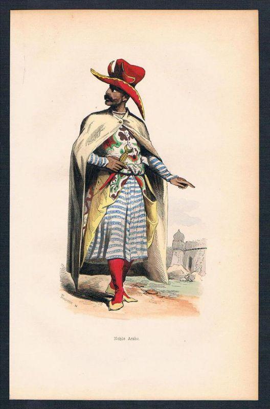 Arabien Arabia Asien Asia costumes Trachten antique print