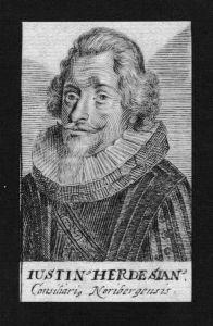 Justinus Hardesheim Jurist lawyer Nürnberg Kupferstich Portrait