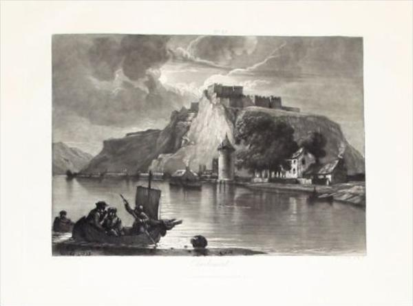 Fort Charlemont Givet Ardennes aquatinte aquatinta gravure aquatint