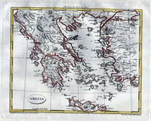 Greece Griechenland map Karte Barbiellini