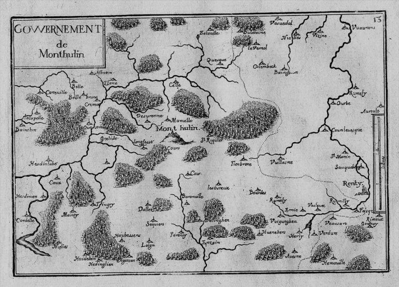 Mont Hulin Pas-de-Calais France Frankreich gravure Kupferstich Tassin