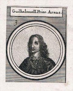 Wilhelm III von Oranien Satthalter Niederlande Kupferstich Portrait
