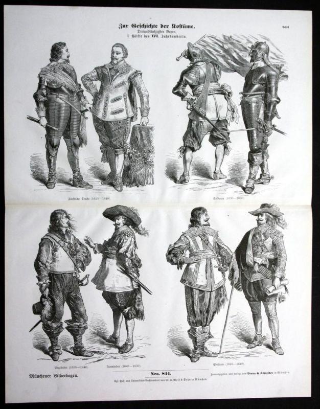 Geschichte der Kostüme - Soldaten - Münchener Bilderbogen