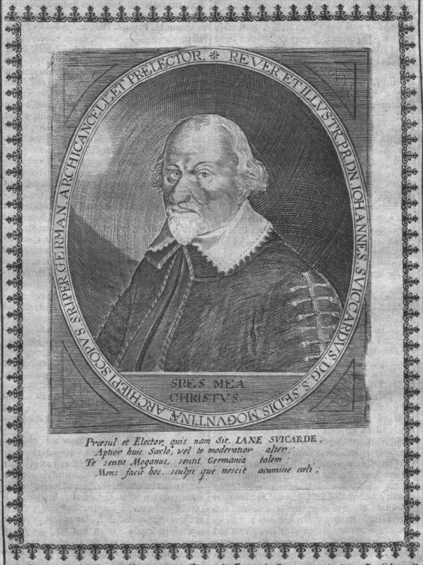 Johann Schweikhard von Kronberg Kurfürst Portrait Kupferstich engraving