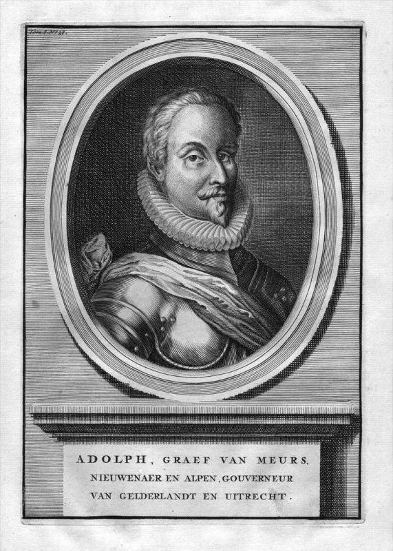 Adolf von Neuenahr Limburg Moers engraving Kupferstich Portrait