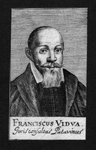 Franciscus Vidua Jurist lawyer Professor Italien Kupferstich Portrait