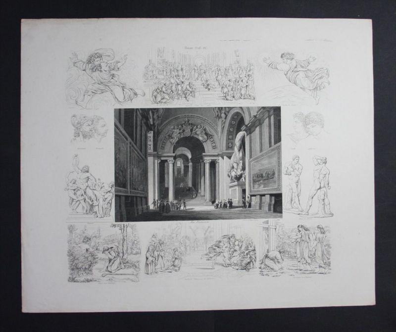 Rom Rome Italien Italy Italia Vatikan Vatican Stahlstich Souvenir-Blatt