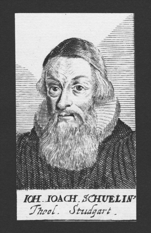 Johann Joachim Schuelin Theologe Urbach Stuttgart Kupferstich Portrait