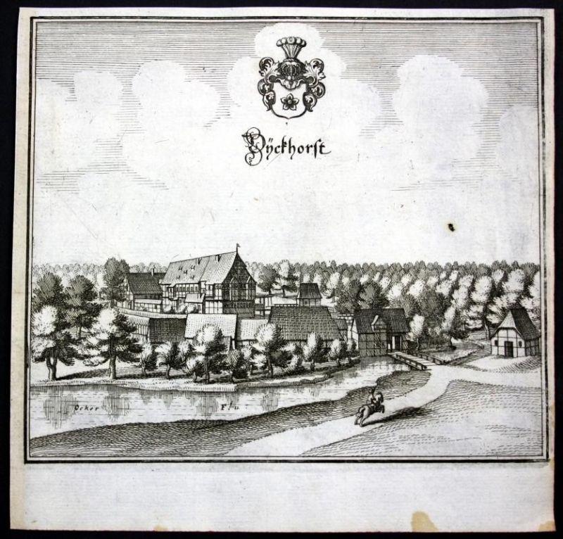 Dieckhorst / Müden (Aller) / Meinersen - Kupferstich Merian