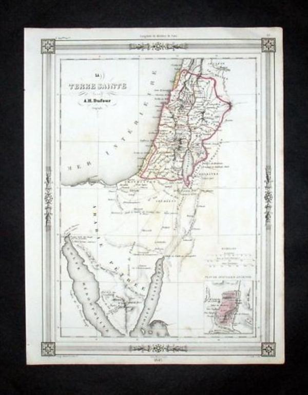 Israel Palestine Palästina Holy Land Map Karte