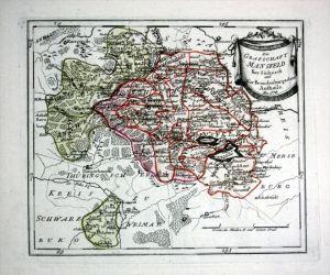 Mansfeld Eisleben Wettin - Reilly Karte map