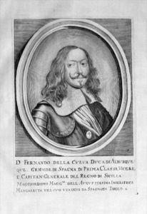 Fernando de Cueva Espana Sicilia Portrait Kupferstich engraving