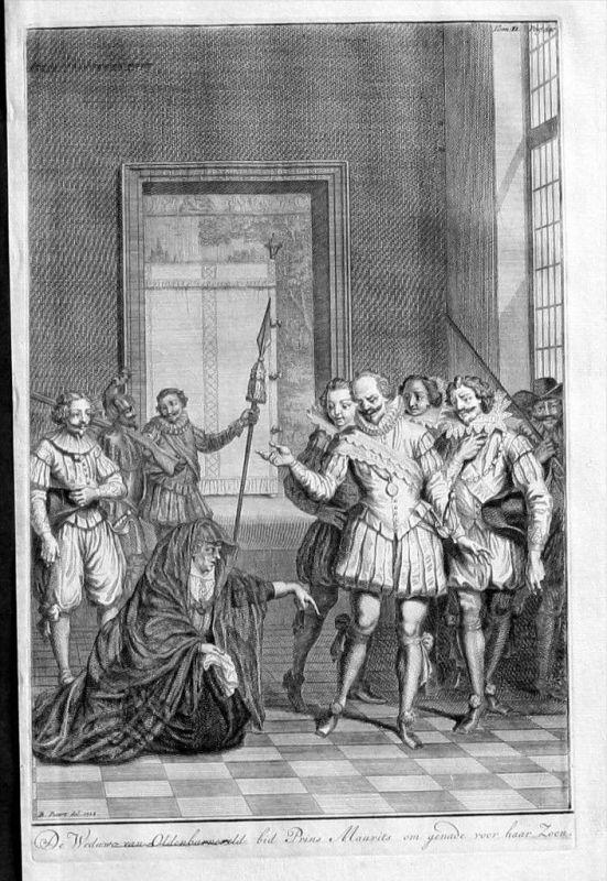 Johan v. Oldenbarnevelt Moritz v. Oranien Kupfer Maurits Oranje gravure