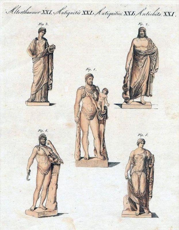 Griechen Römer Götter Antike Kupferstich Bertuch