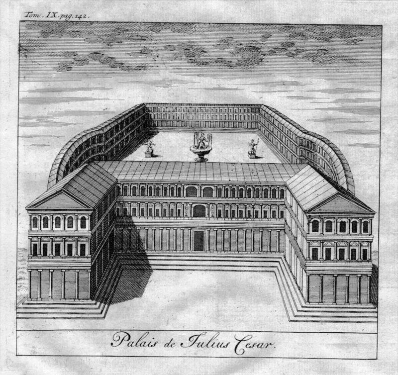 Roma Rome Rom Julius Caesar Palace map Karte engraving Kupferstich