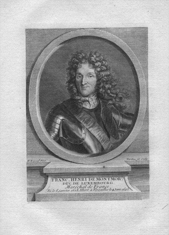 Francois Henri de Montmorency-Bouteville Marschall Kuperstich Portrait
