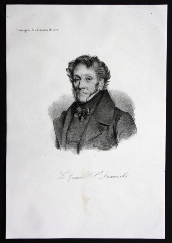 P. Demeester General Frankreich France lithograph Lithographie Portrait