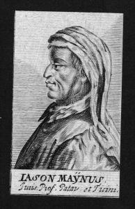 Giason von Maino Jurist lawyer Italien Italy Kupferstich Portrait