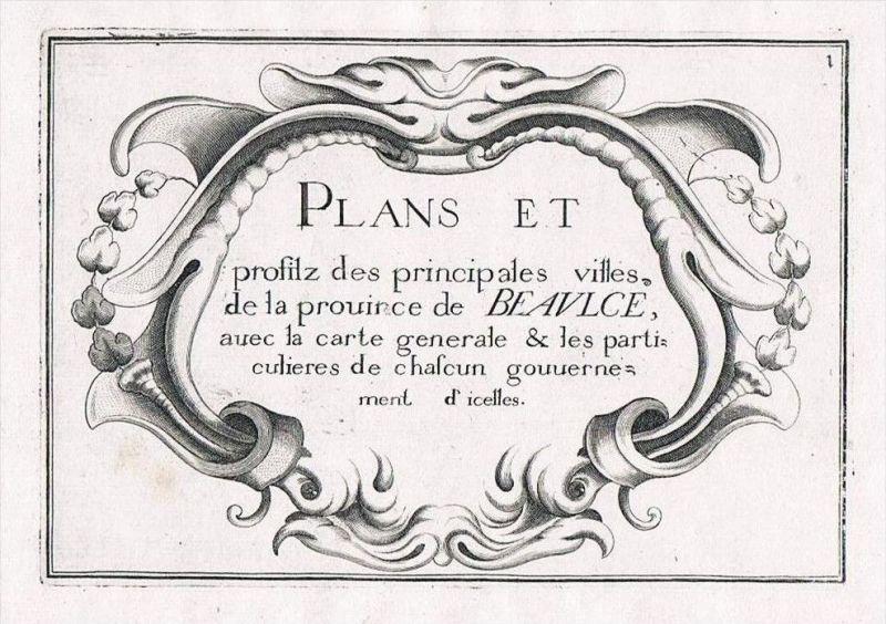 Beauce Eure-et-Loire Loir-et-Cher title page gravure Kupferstich Tassin