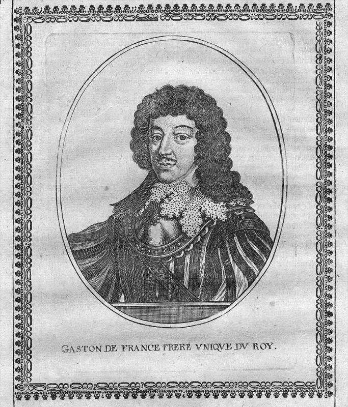 Gaston de France d'Orleans Portrait Kupferstich engraving gravure