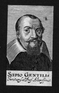 Scipione Gentili Jurist lawyer Italien Italy Kupferstich Portrait