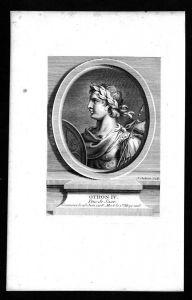 Otto IV von Braunschweig Kaiser König Welfen Kupferstich Portrait
