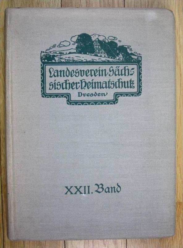 Mitteilungen des Landesvereins Sächsischer Heimatschutz 1933 XXII. Band