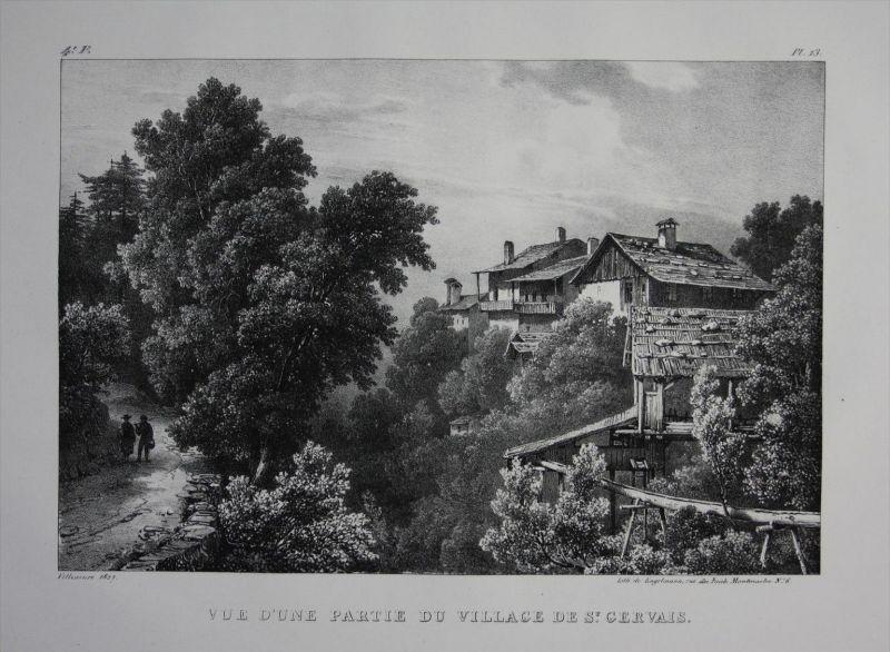 Saint-Gervais-les-Bains Haute-Savoie Lithographie Villeneuve