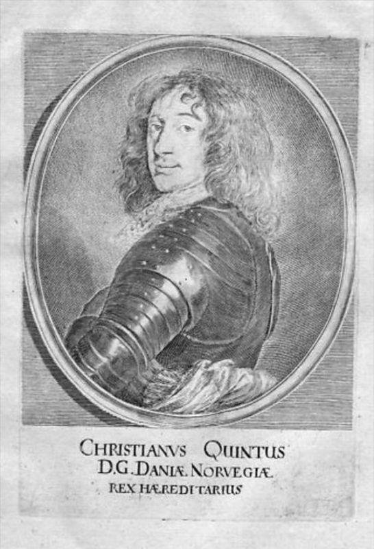 Christian V. Denmark Norway Portrait Merian