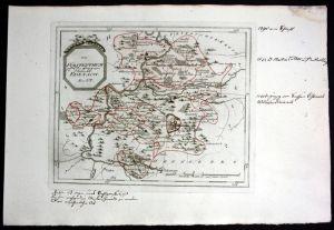 Fürstentum Eisenach Ruhla - Reilly Karte map