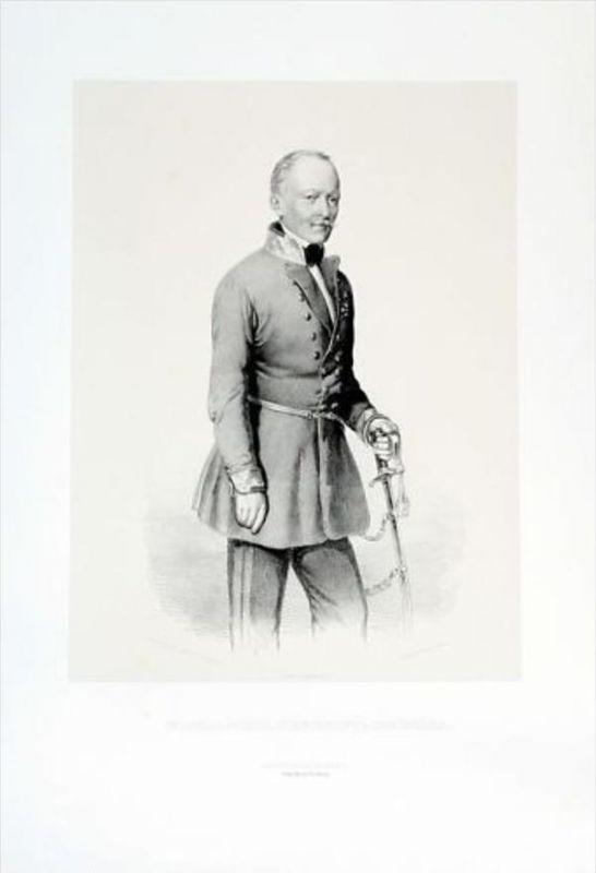 Karl von Schönhals General Lithographie Portrait