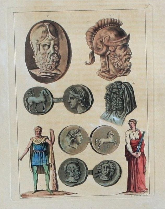 Antike Altertum Mythologie mythology Aquatinta aquatint antique print