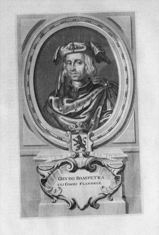 Guido I. von Flandern Flandre Original Portrait gravure engraving