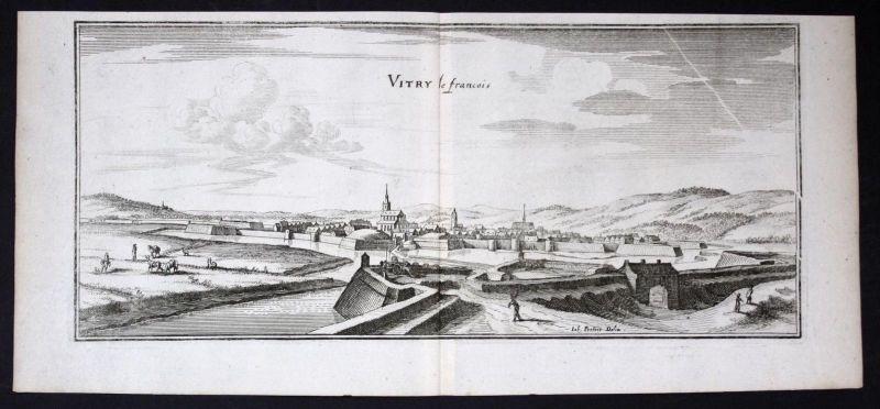 Vitry-le-Francois Marne gravure estampe Kupferstich Merian engraving