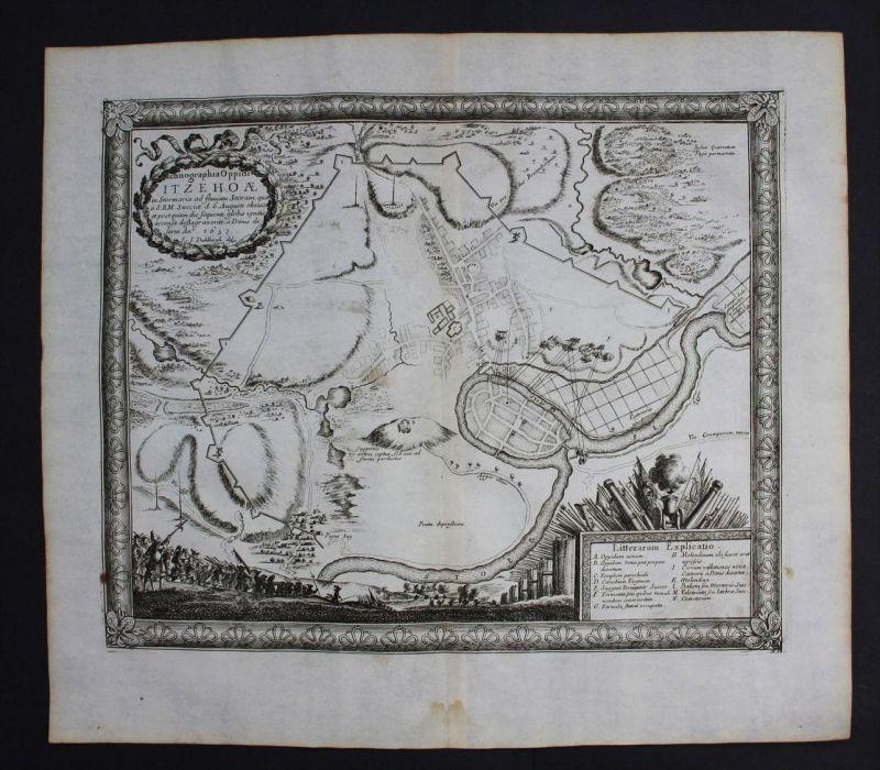 Itzehoe Belagerung Schlacht Battle Kupferstich engraving Pufendorf