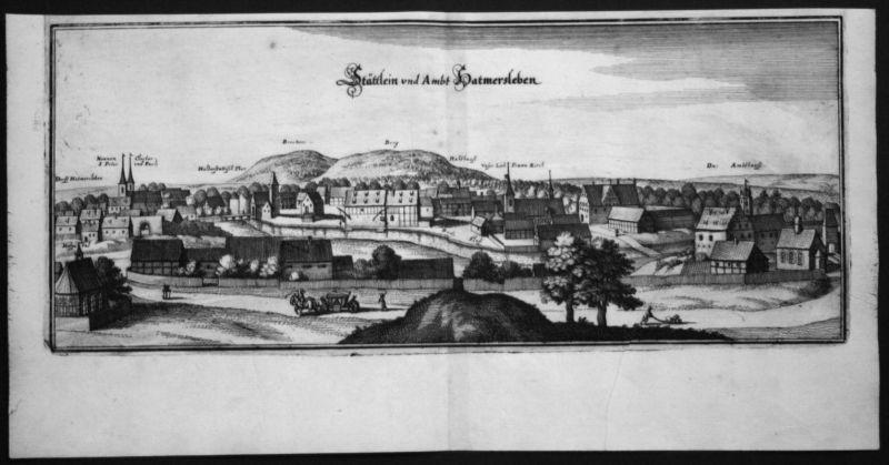 Hadmersleben / LK Wanzleben - Kupferstich Merian