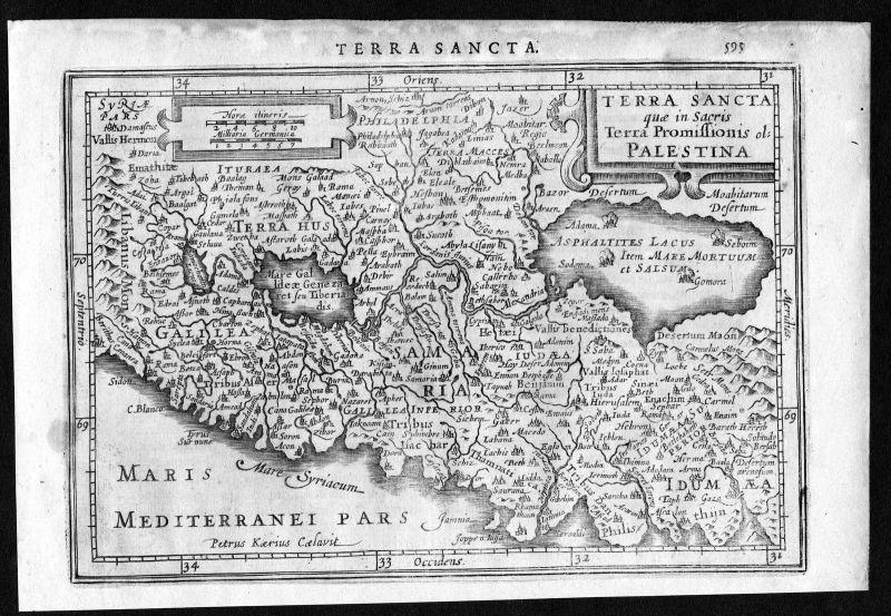 Terra Sancta Palestina Israel Palestine Jerusalem map Mercator engraving