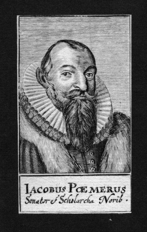 Jakob Pömer Poemerus Jurist lawyer Nürnberg Kupferstich Portrait