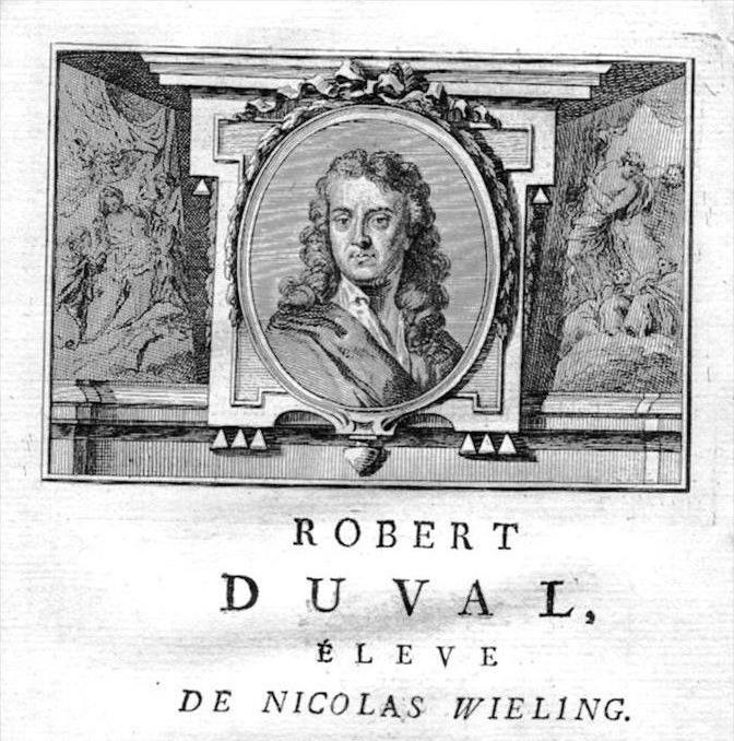 Robbert Duval painter Maler Portrait Kupferstich gravure engraving
